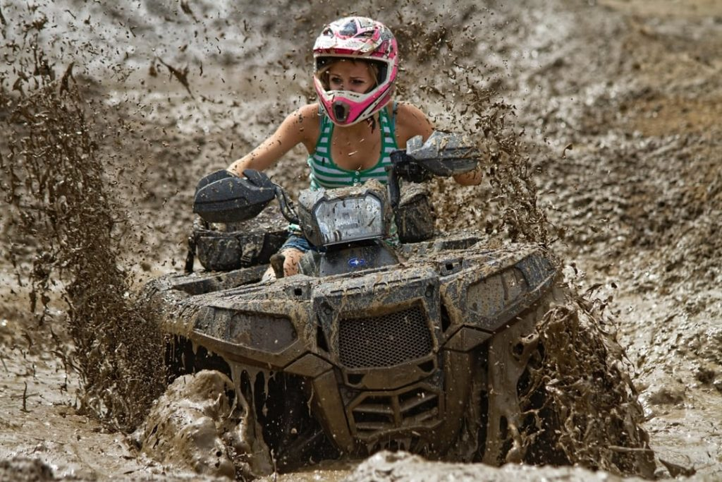 Muddy quad biking trail