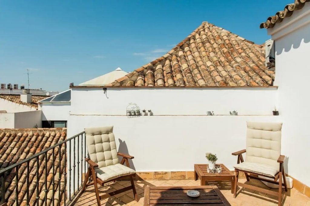 two-chairs-patio-airbnb-seville-spain