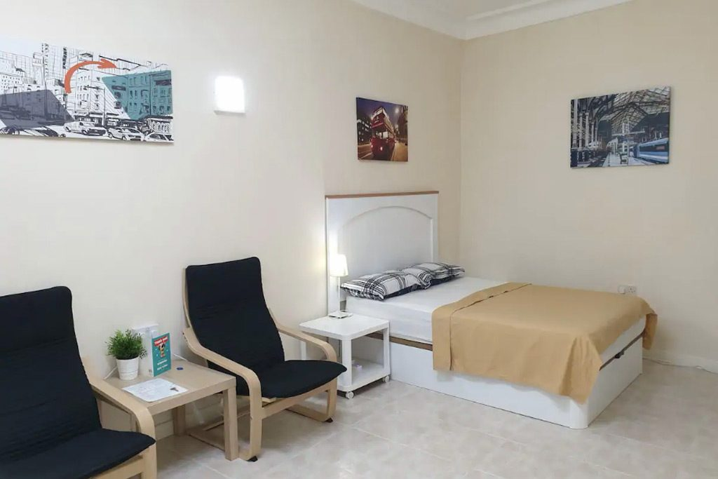 basic room on airbnb in Gibraltar