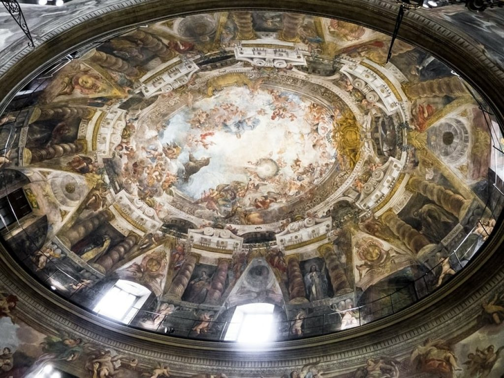 Church Fresco Roof