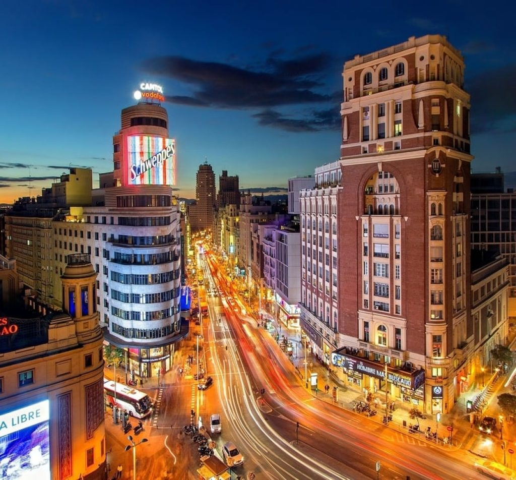Madrid Highstreet Night